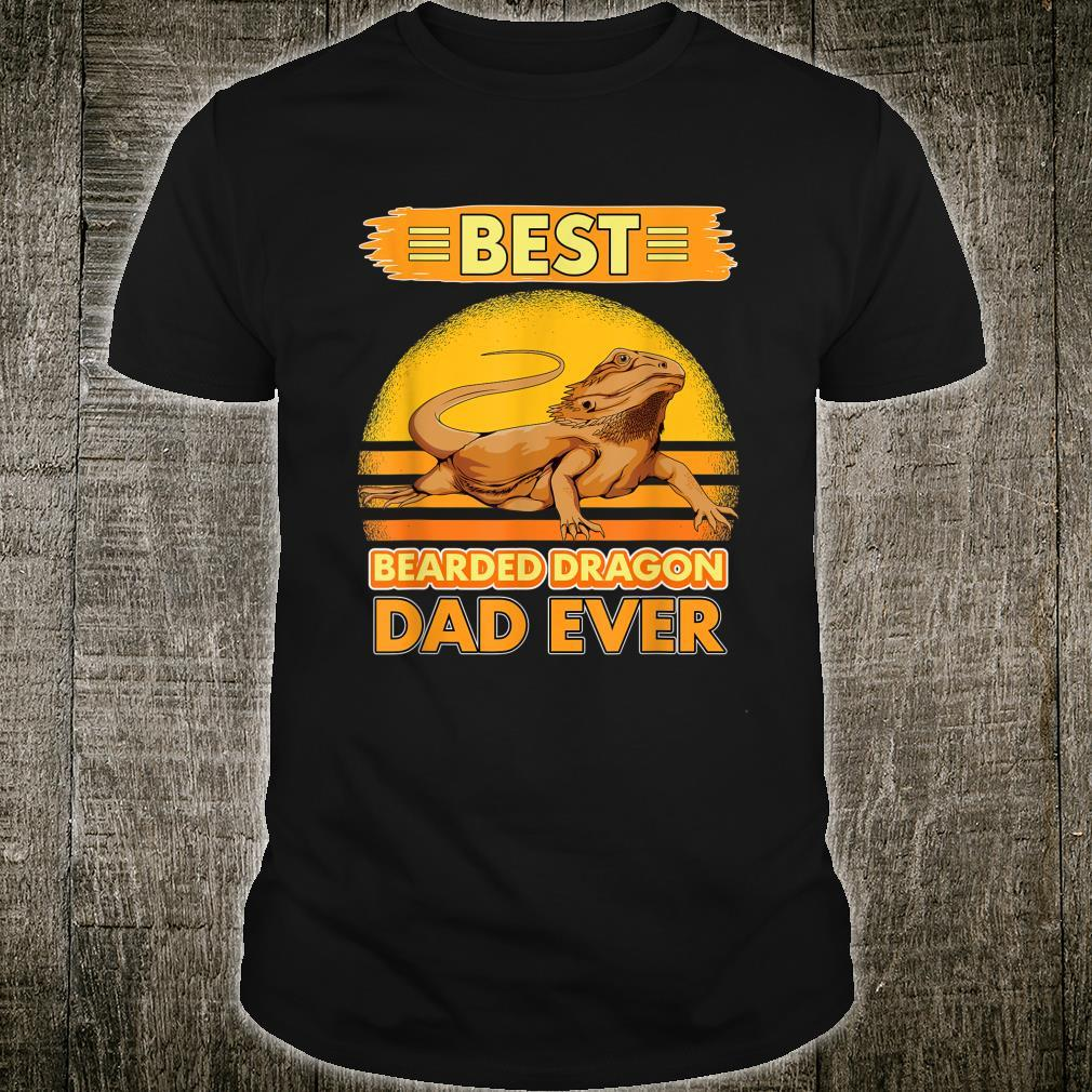 Mens Boys Best Bearded Dragon Dad Ever Father's Day Reptile Shirt